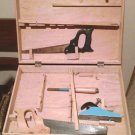 Vintage Poland Billy Builder Tool Box Set w/ wood case by NSI Toy RARE
