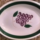 SERVING PLATTER DISH HAND PAINTED ITALY Grapes LEAD FREE 16 x 12 NY