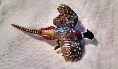 Pheasant Lapel Pin broach Bird Hat-pin hunting sportsman Game Phasianinae