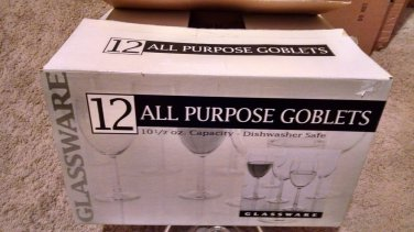 Bed Bath & Beyond exclusive Set of 11 Wine Glasses 10.5 oz Glassware new in box