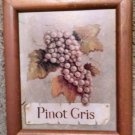 THREE Vintage French Country Tuscan Hanging Wine &Grapes Wall Art Decor Picutres