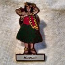HAWAII LAPEL PIN -Hula Girl Tropics Luau Island 50th-State Keepsake Dancer