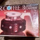 NIB Mr Coffee D-7C replacement decanter glass white handle lid. 10 cup Universal