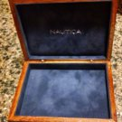 Vintage Nautica Wooden Safekeep Box Velvet Lined wood SAILBOAT jewelry storage