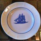 "WEDGWOOD GEORGETOWN COLLECTION AMERICA CLIPPER PLATE 10""  Flying Cloud Blue/Wht"