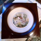 "Grandma Moses plate 8"" Jack and Jill 1st ed Atlas China  NY in Custom wood frame"