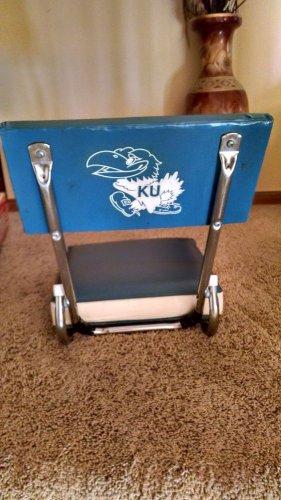 Vintage Authentic gear Kansas Univ. Jayhawk STADIUM SEAT blue and white Lawrence
