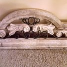 "ANTIQUE STONE AND IRON ORNATE WALL HANGING 32"" LONG CARVED ITALIAN DESIGN"