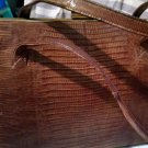 Vintage Crocodile Aligator Purse Handbag Leather inside Reddish Brown