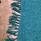 Mainstay Woven Blanket Throw or Shawl Wrap Teal 60 x 60 fringe fashion comfort