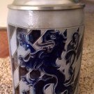 "Vintage REINHOLD MERKELBACH German Beer Stein Lion Pewter lid 5"" Collector Mug"