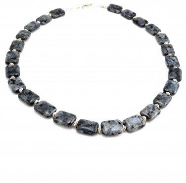 Necklace OOAK Black Labradorite Sterling Silver Handmade