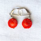 Coral/Freshwater Pearls Sterling Silver Leverback Earring