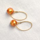 OOAK Earrings Genuine Murano Glass Gold Filled