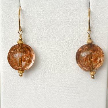 Genuine Murano Glass Gold Filled Earrings