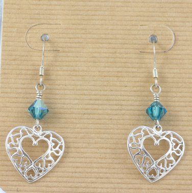 Swarowski Crystals and Sterling Silver Earrings