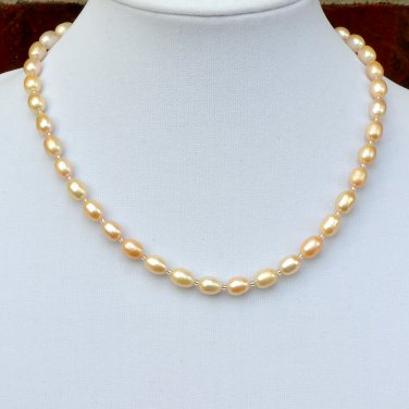 Freshwater Pearls Sterling Silver Necklace
