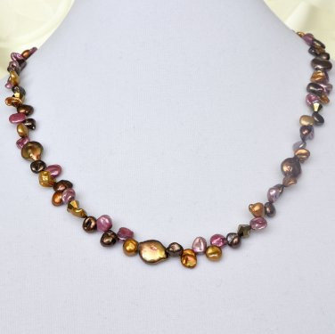 Keshi Pearl Gold Filled Necklace and Earrings Set