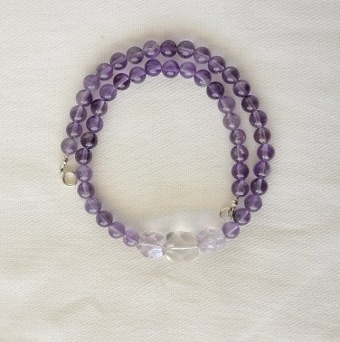 Amethyst and Ametrine Sterling Silver Necklace