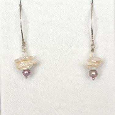 Freeshwater Pearls Sterling Silver Earrings
