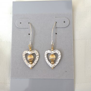 Heart Sterling and Gold Filled  Earrings