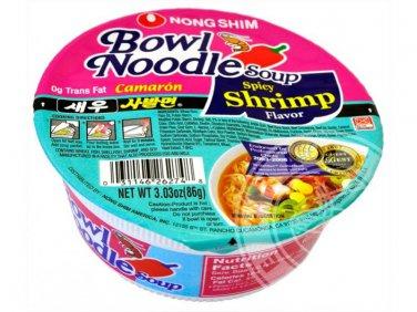 Bowl Noodle Shrimp Flavor 12 Packs