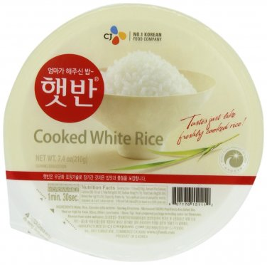 CJ Cooked White Rice 12 Packs