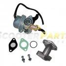 Carburetor Intake Manifold PEACE PANTHER YAMOTO Chinese Atv Quad 4 Wheeler 110cc