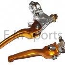 Dirt Pit Bike CNC Brake Clutch Lever Aluminum 125 138 140 150 200cc Parts Gold