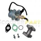 Dirt Pit Bike Carburetor Intake For Motovox MVX70 MVX110 MVX125 70cc 110cc 125cc