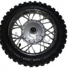 Dirt Pit Bike Front Wheel Tire Rim Brake Drum 110cc Supermach DB110-21A Parts
