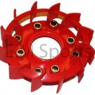 Atv Quad Go Kart Engine Motor Plastic Cover Fan Parts 50cc Red
