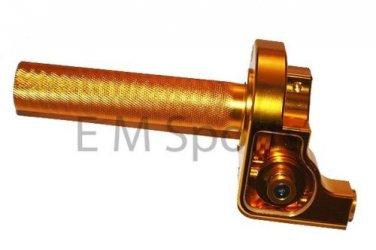 50cc 90cc Dirt Pit Bike CNC Twist Throttle Control GOLD For YAMAHA TTR50 TTR90