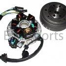 Atv Quad Stator Alternator Rotar Lifan Engine Motor Flywheel 140cc Parts