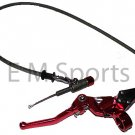 Dirt Pit Bike Clutch Lever Hydraulic Cable Assembly Red Color