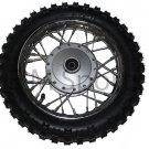 """Dirt Pit Bike 10"""" Front Wheel Rim Tire Combo 2.5 x 10 Coolster Parts 110cc 125cc"""