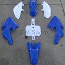 50cc Dirt Pit Bike Blue Plastic Fairing Body Shell Shroud For Honda CRF50 XR50