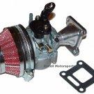 Mini Pocket Bike Parts Performance HP Carburetor Air Filter Kit 47cc 49cc