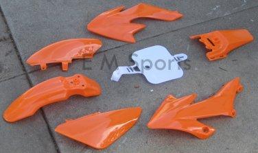 Dirt Pit Bike Plastic Fairing Shell Parts 138cc 140cc TAOTAO SUNL ROKETA Orange