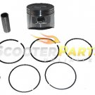 Piston Kit Rings For Go Kart 4 Wheeler Hammerhead HH Mudhead 80T 208cc