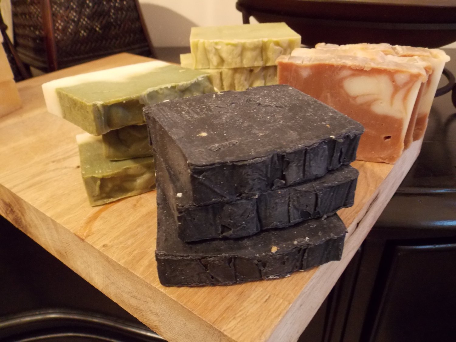 BLACK (K.C. type) - Cold Process Soap with Activated Charcoal