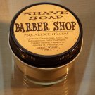 BARBER SHOP SHAVE SOAP & Glass Shave Jar, Melt and Pour Glycerin Soap, Oatmeal, Kaolin Clay