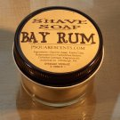BAY RUM SOAP & Glass Shave Jar, Melt and Pour Glycerin Soap, Oatmeal, Kaolin Clay