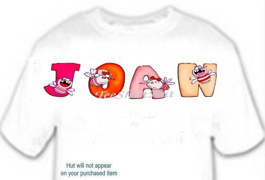 T-shirt - Your Name in COOTIES ~ (girls) - (Adult 4xLg - 5xLg)