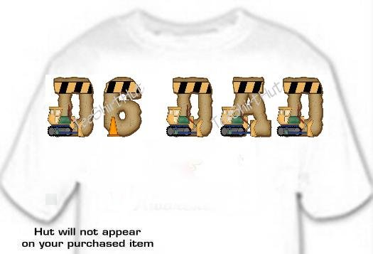 T-shirt, Your Name in Dozer, D6 DAD, Heavy Equipment - (youth & Adult Sm - xLg)
