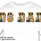 T-shirt, Your Name in Dozer, D6 DAD, Heavy Equipment - (Adult 4xLg - 5xLg)