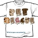 T-Shirt, Your Name in DOGGIE, bones, spots plaids, - (Adult 3xlg)