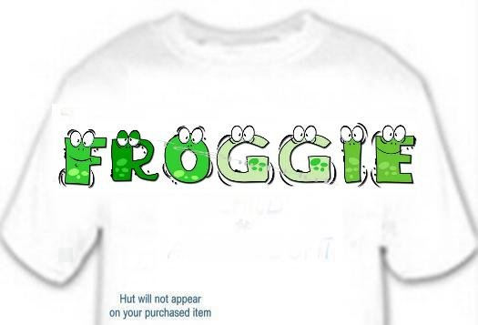 T-shirt, Feelin FROGGIE? your Name in FROGGIE - (youth & Adult Sm - xLg)