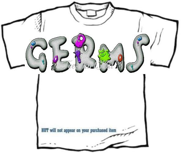 T-Shirt, Your NAME in GERMS, eeeewww - (Adult 4xLg - 5xLg)