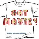 T-shirt GOT MOVIE?, popcorn, or PERSONALIZE w 1st Name - (Adult 4xLg - 5xLg)
